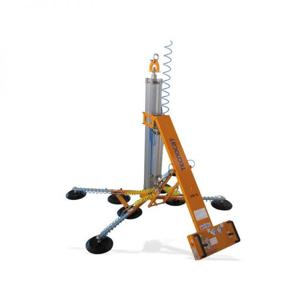 Ventosa con rotación manual, basculación neumática y sistema elevación neumático VN5-B4+4