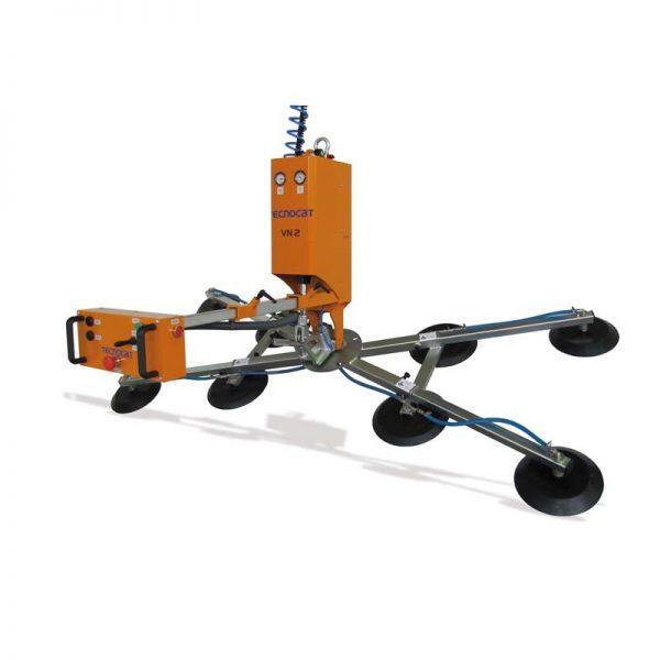 Ventosa para vidrio con rotación manual y basculación neumática VN2-GB4+4